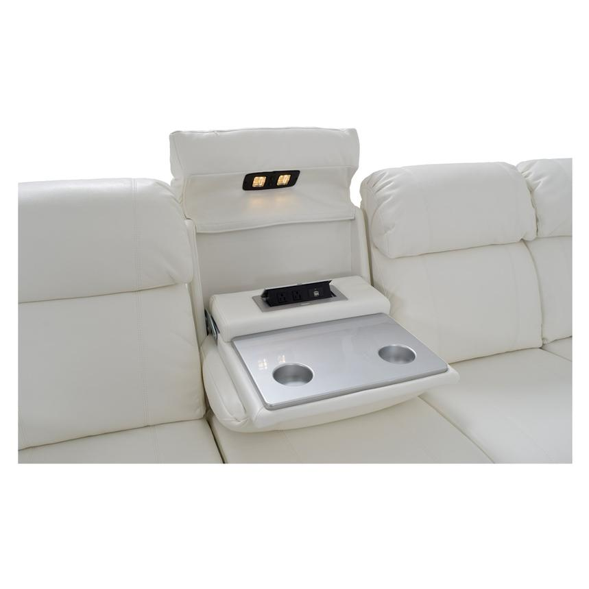 Magnetron White Power Motion Sofa w/Right & Left Recliners  alternate image, 6 of 9 images.