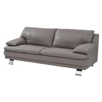 Rio Light Gray Leather Sofa Made in Brazil