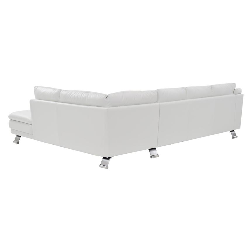 Rio White Leather Corner Sofa w/Right Chaise  alternate image, 2 of 8 images.
