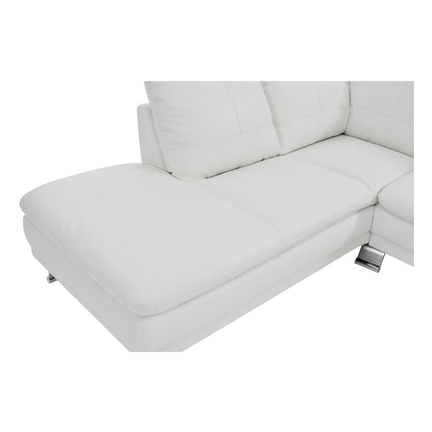 Rio White Leather Sofa w/Left Chaise  alternate image, 5 of 7 images.