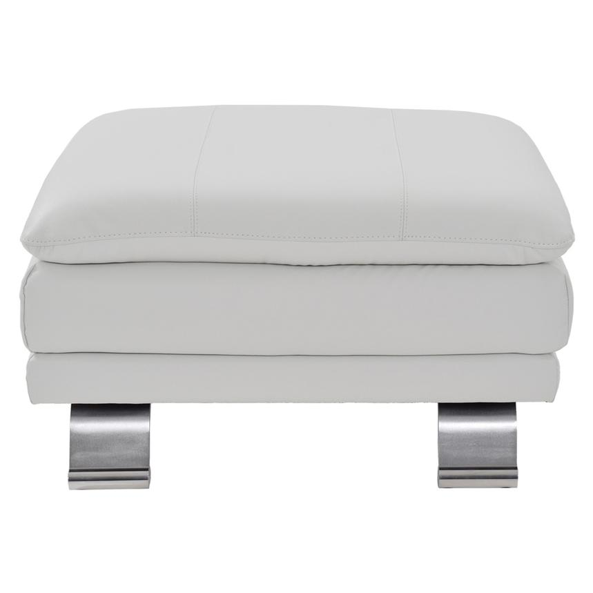 Rio White Leather Ottoman  main image, 1 of 5 images.