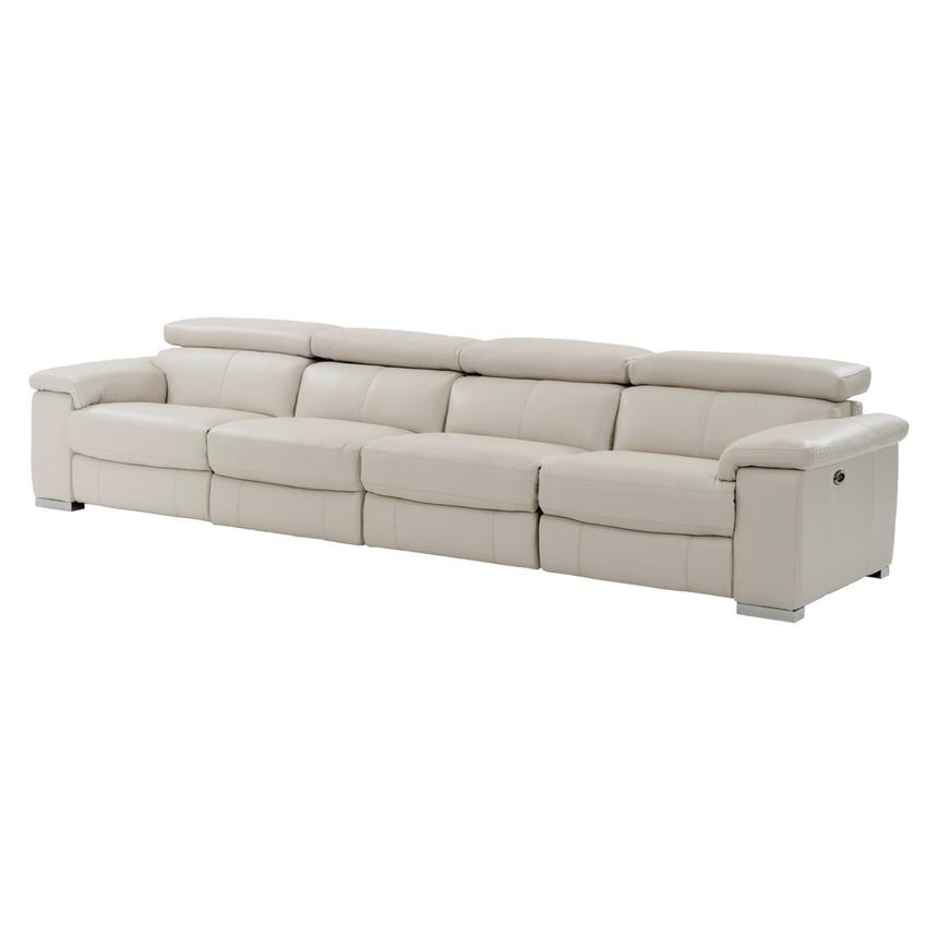 Nathan Cream Oversized Leather Sofa  main image, 1 of 10 images.
