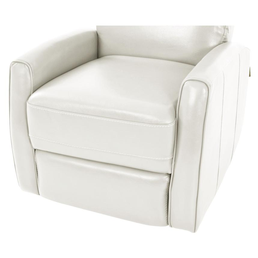Lucca White Power Motion Leather Recliner  alternate image, 6 of 7 images.