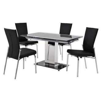Antonia Black 5-Piece Dining Set
