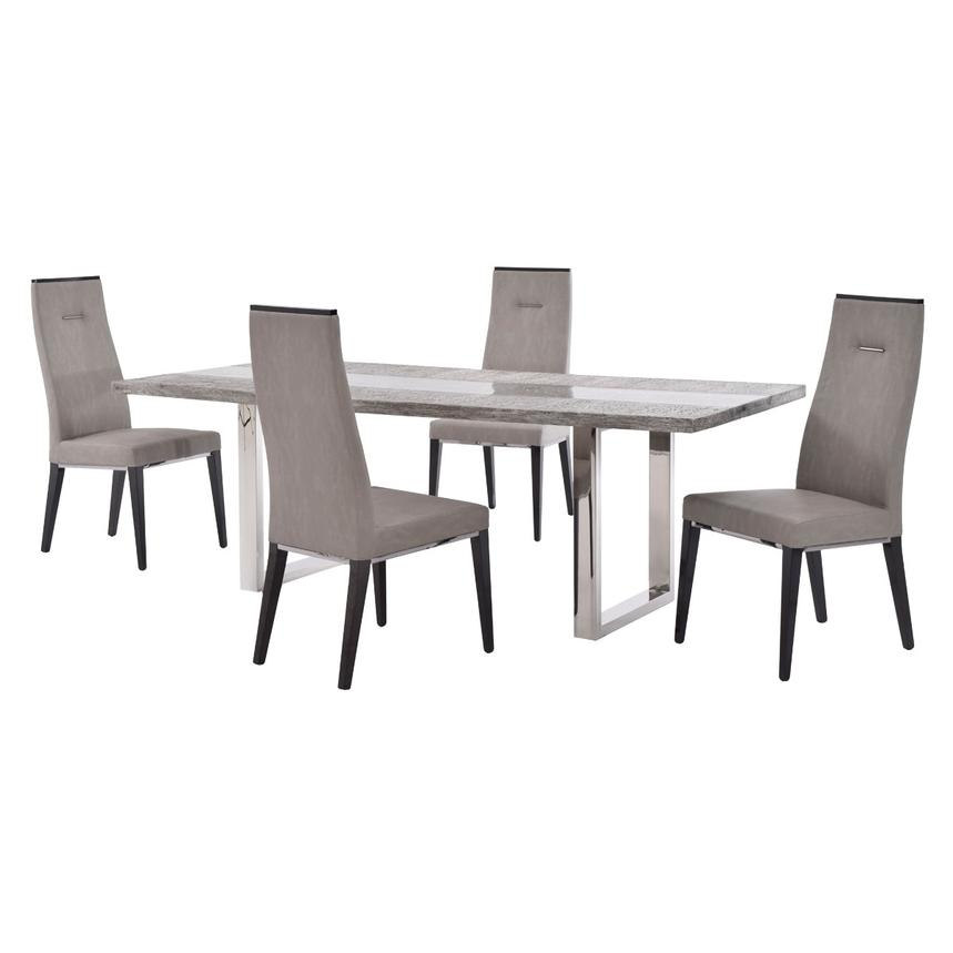 Skyscraper/Heritage 5-Piece Formal Dining Set  main image, 1 of 12 images.