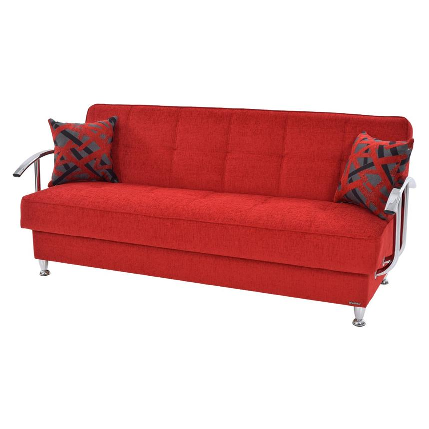 Betsy Red Futon w/Storage  main image, 1 of 8 images.