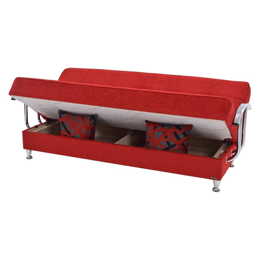 Betsy Red Futon w/Storage  alternate image, 2 of 8 images.