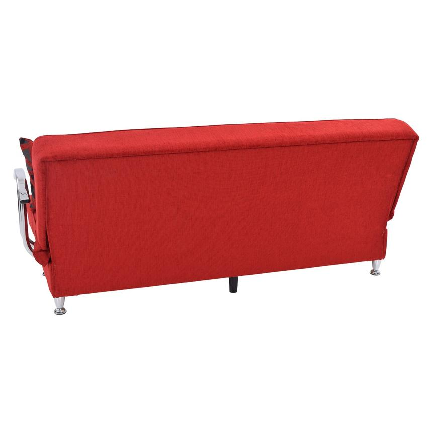 Betsy Red Futon w/Storage  alternate image, 5 of 8 images.