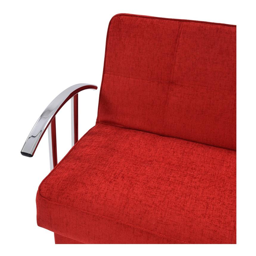 Betsy Red Futon w/Storage  alternate image, 7 of 8 images.