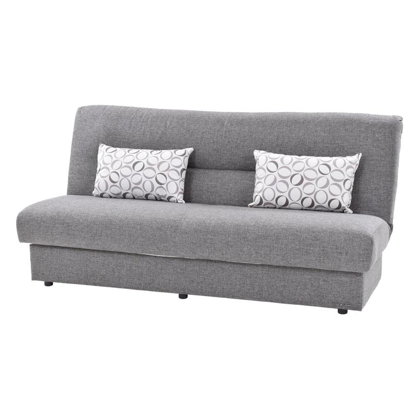 Regata Gray Futon w/Storage  main image, 1 of 9 images.