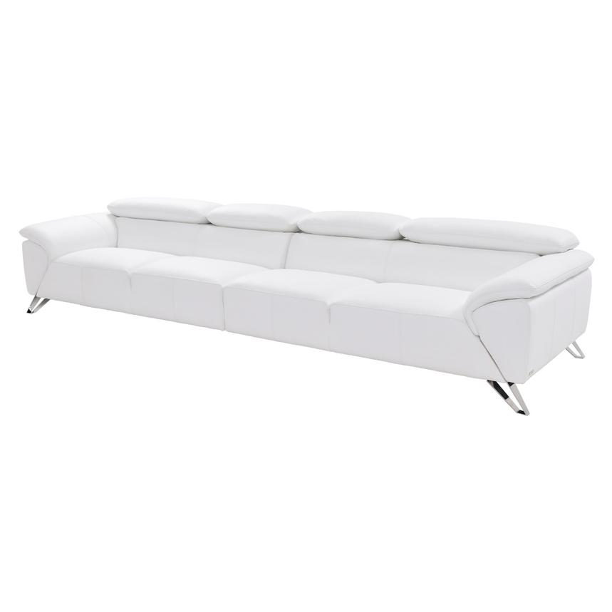 Tesla White Oversized Leather Sofa El Dorado Furniture