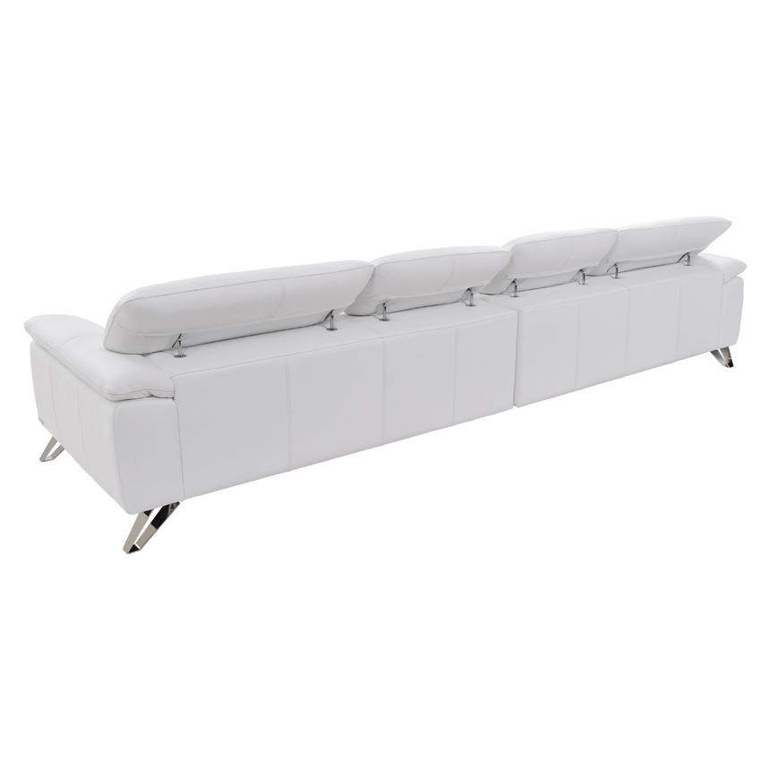 Tesla White Oversized Leather Sofa  alternate image, 5 of 8 images.
