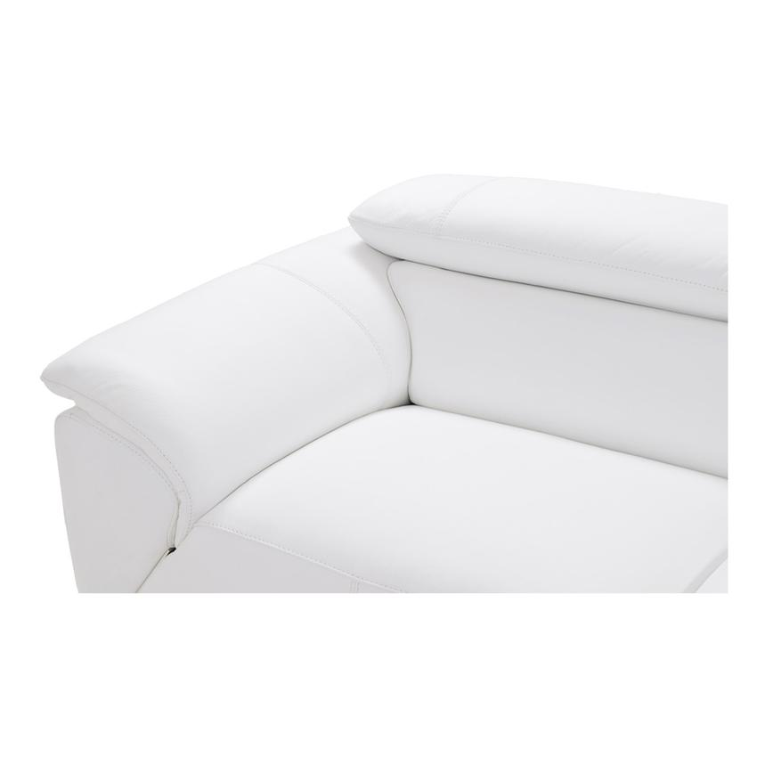 Tesla White Oversized Leather Sofa  alternate image, 6 of 7 images.