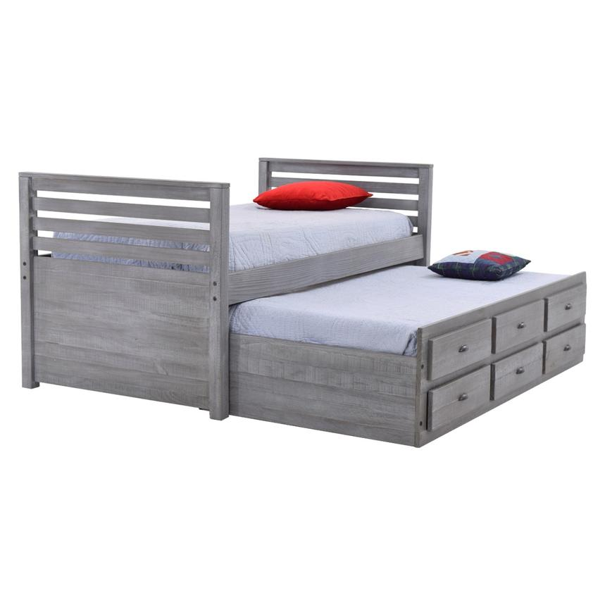 Montauk Gray Twin Storage Captain Bed  main image, 1 of 8 images.