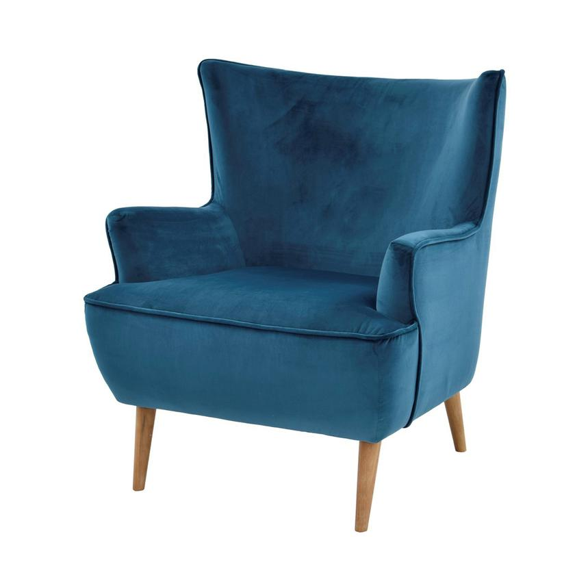 Zita Blue Accent Chair  main image, 1 of 6 images.