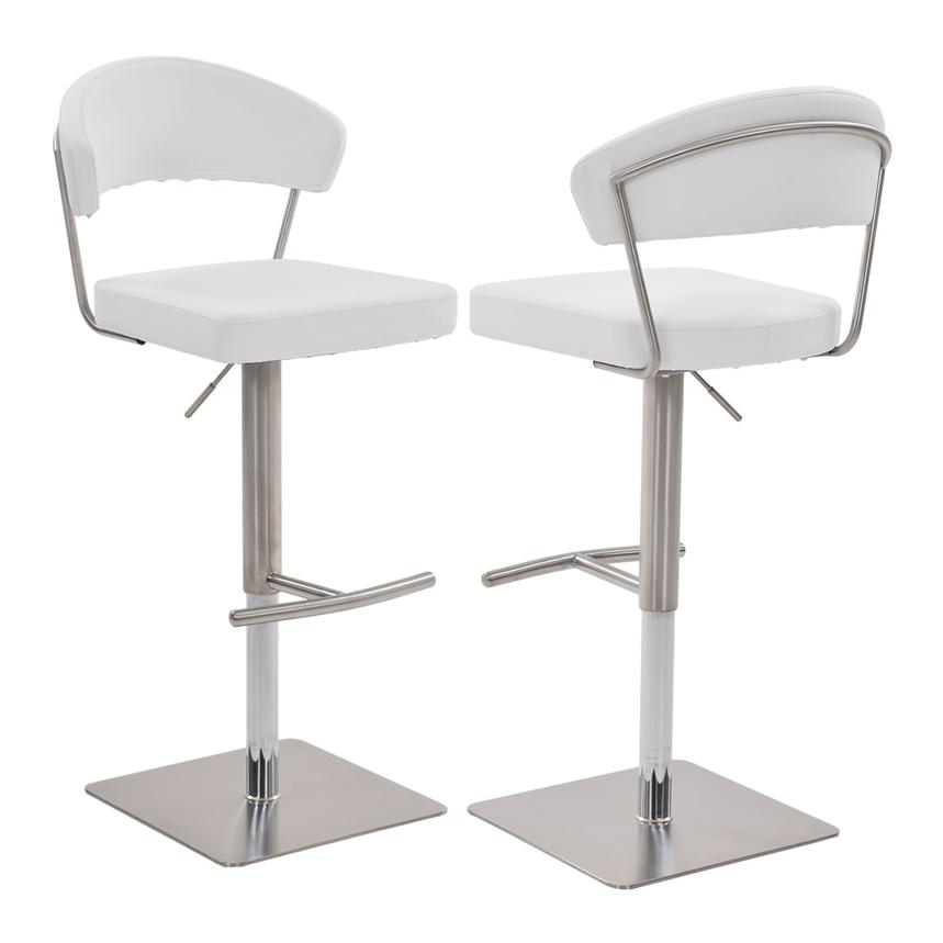 Bold White Adjustable Stool  main image, 1 of 6 images.