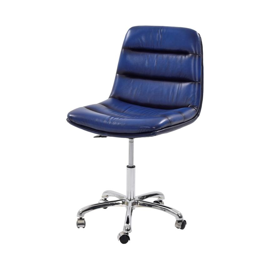 aviator leather desk chair