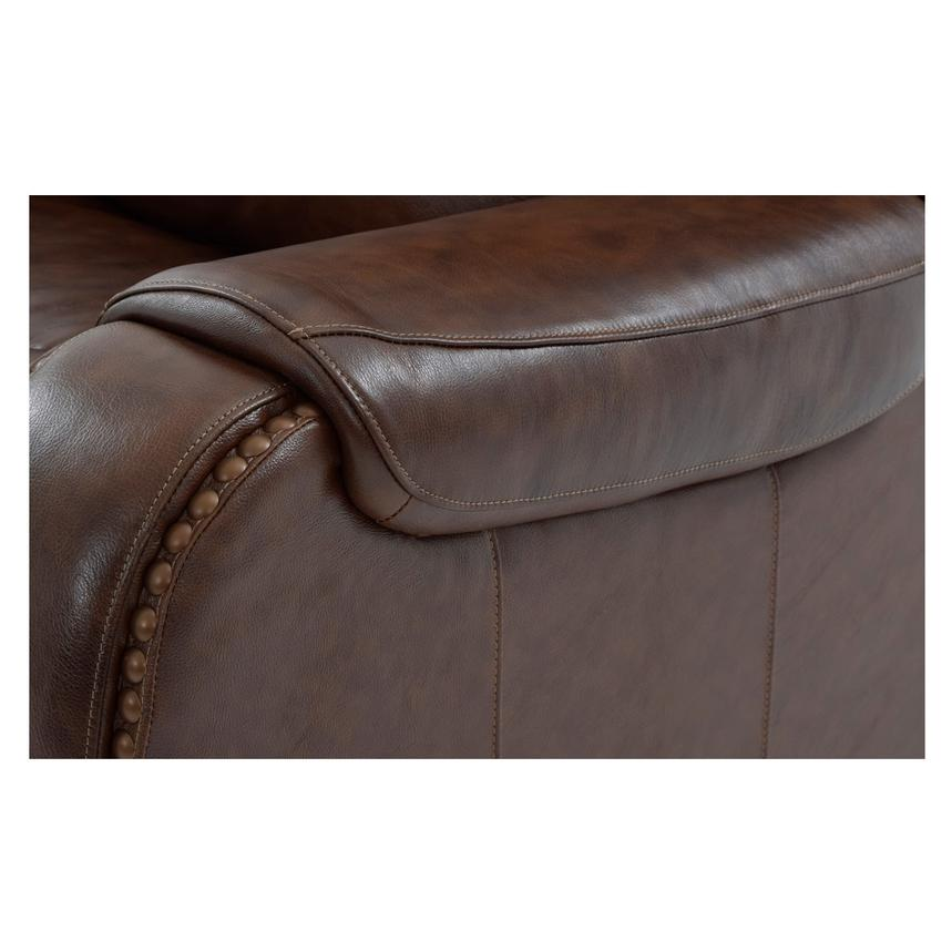 Durham Power Motion Leather Sofa w/Console  alternate image, 11 of 12 images.