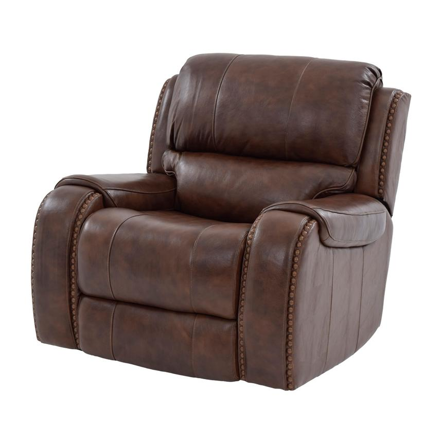 Durham Power Motion Leather Recliner  main image, 1 of 9 images.