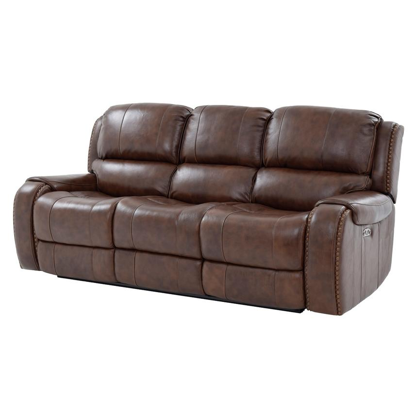 Durham Leather Power Reclining Sofa  main image, 1 of 10 images.
