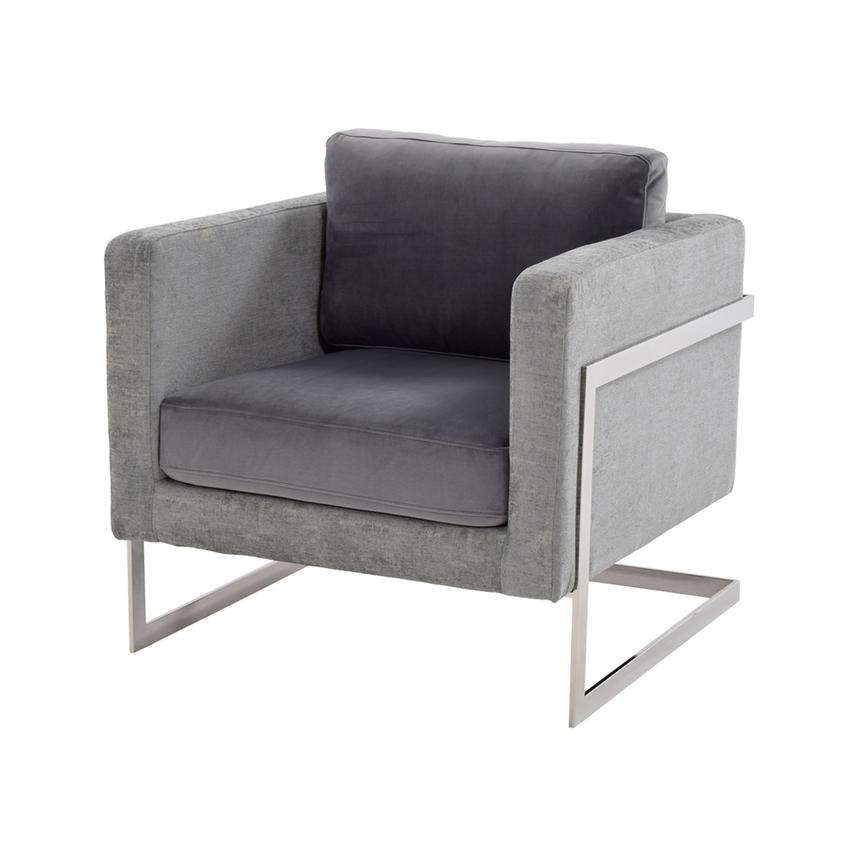 Emma Gray Accent Chair Main Image, 1 Of 6 Images.