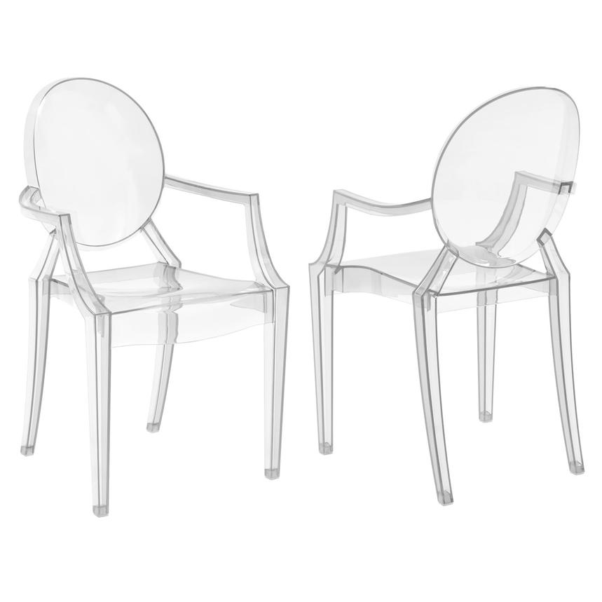 Isabella Clear Arm Chair  main image, 1 of 4 images.
