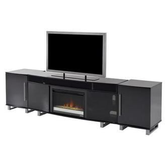 Enterprise Black Faux Fireplace w/Speakers