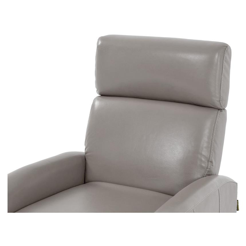 Lucca Gray Power Motion Leather Recliner  alternate image, 5 of 7 images.