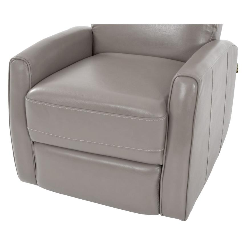 Lucca Gray Leather Power Recliner  alternate image, 6 of 7 images.