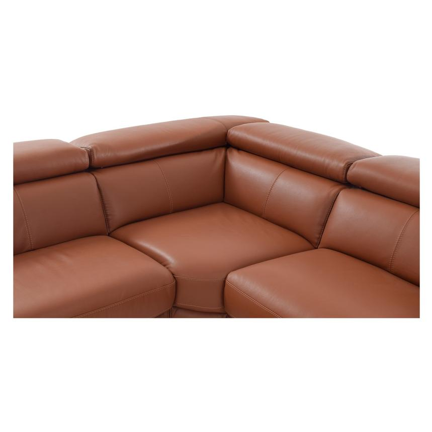Nathan Tan Power Motion Leather Sofa w/Right & Left Recliners  alternate image, 5 of 5 images.