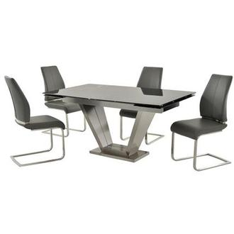 Jessy/Maday Gray 5-Piece Dining Set