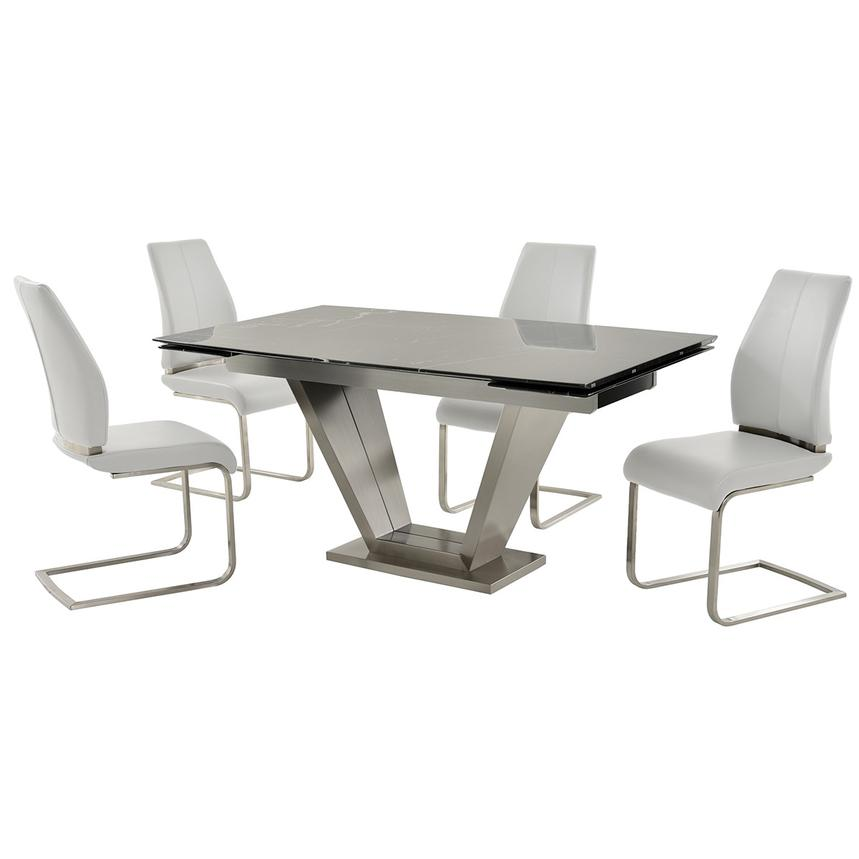 Jessy/Maday White 5-Piece Formal Dining Set  main image, 1 of 12 images.