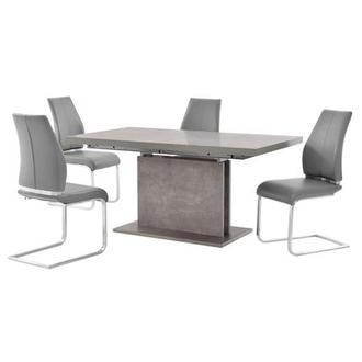 Kalinda/Maday Gray 5-Piece Formal Dining Set