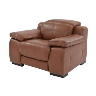 Gian Marco Tan Leather Power Recliner