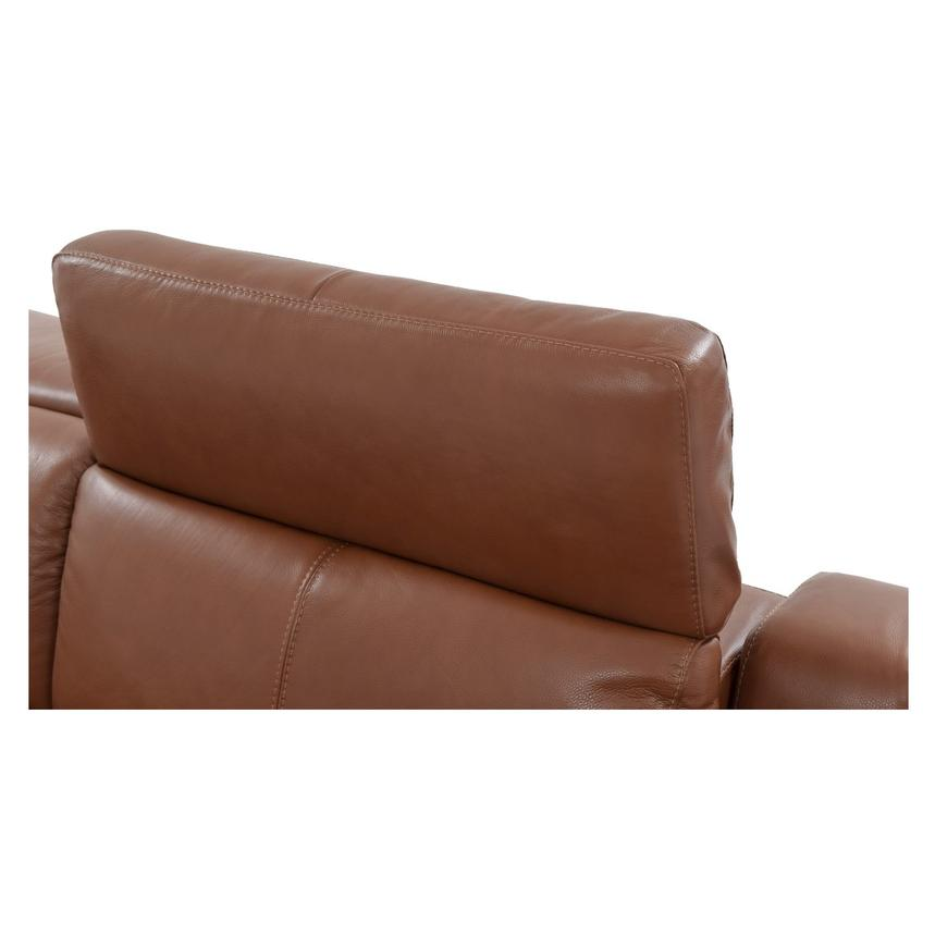 Gian Marco Tan Power Motion Leather Loveseat  alternate image, 6 of 8 images.