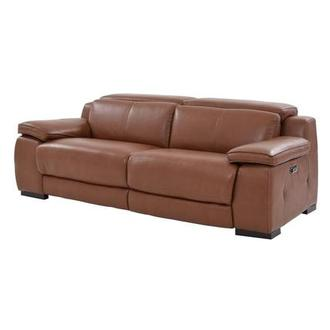 Gian Marco Tan Power Motion Leather Sofa