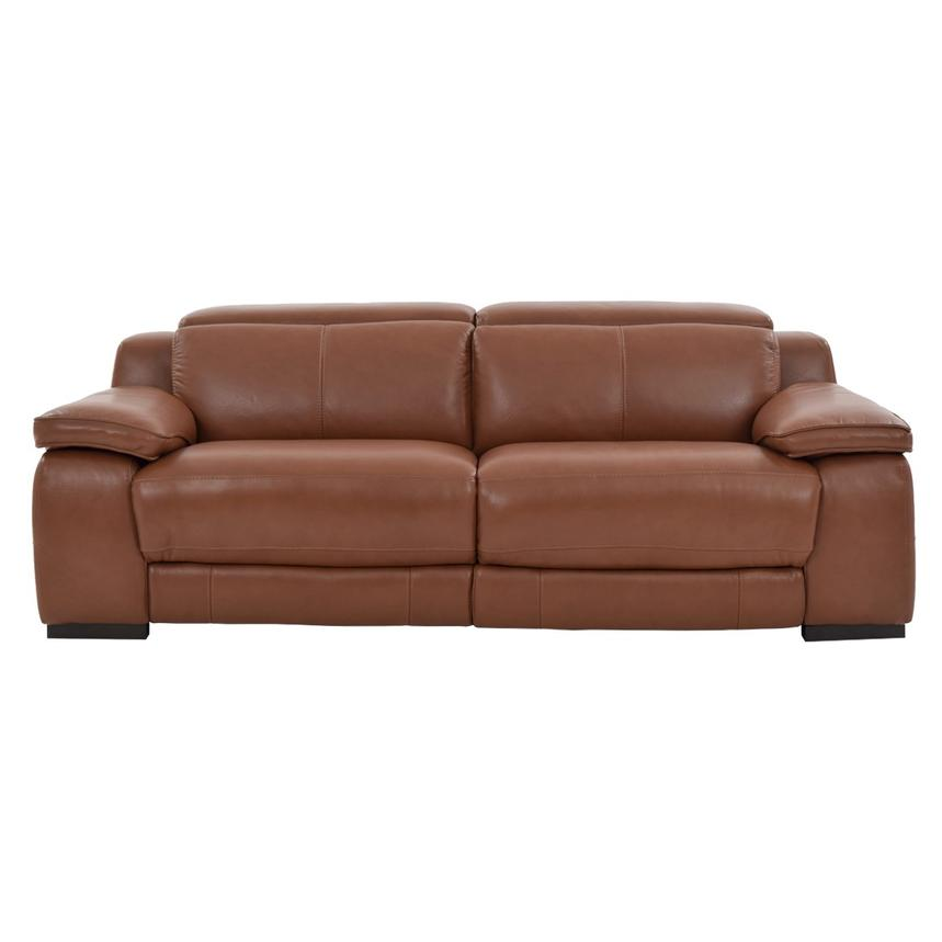 Gian Marco Tan Leather Power Reclining Sofa  main image, 1 of 10 images.