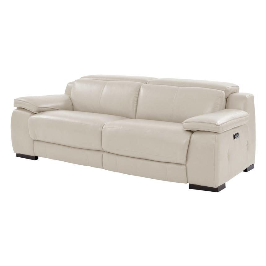 Gian Marco Cream Power Motion Leather Sofa  main image, 1 of 8 images.