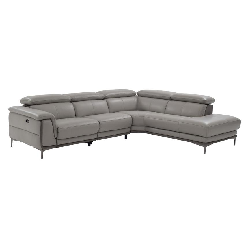 Richardson Power Motion Leather Sofa w/Right Chaise  main image, 1 of 8 images.