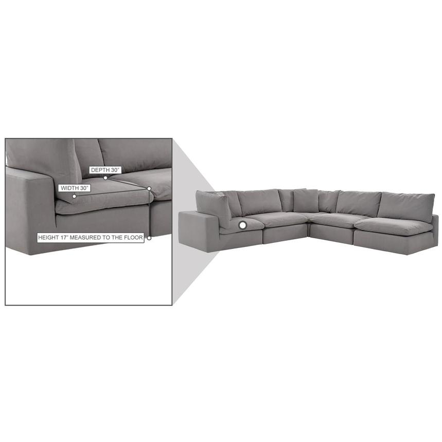 Nube II Gray Sectional Sofa  alternate image, 10 of 10 images.