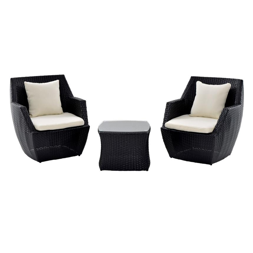 Neilina Black 3-Piece Patio Set  main image, 1 of 11 images.