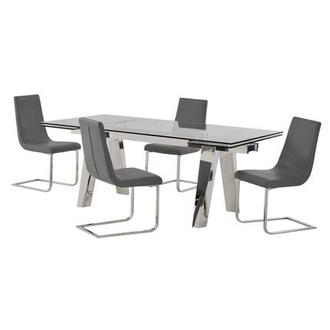 Madox/Lea Gray 5-Piece Dining Set