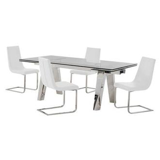 Madox/Lea White 5-Piece Formal Dining Set