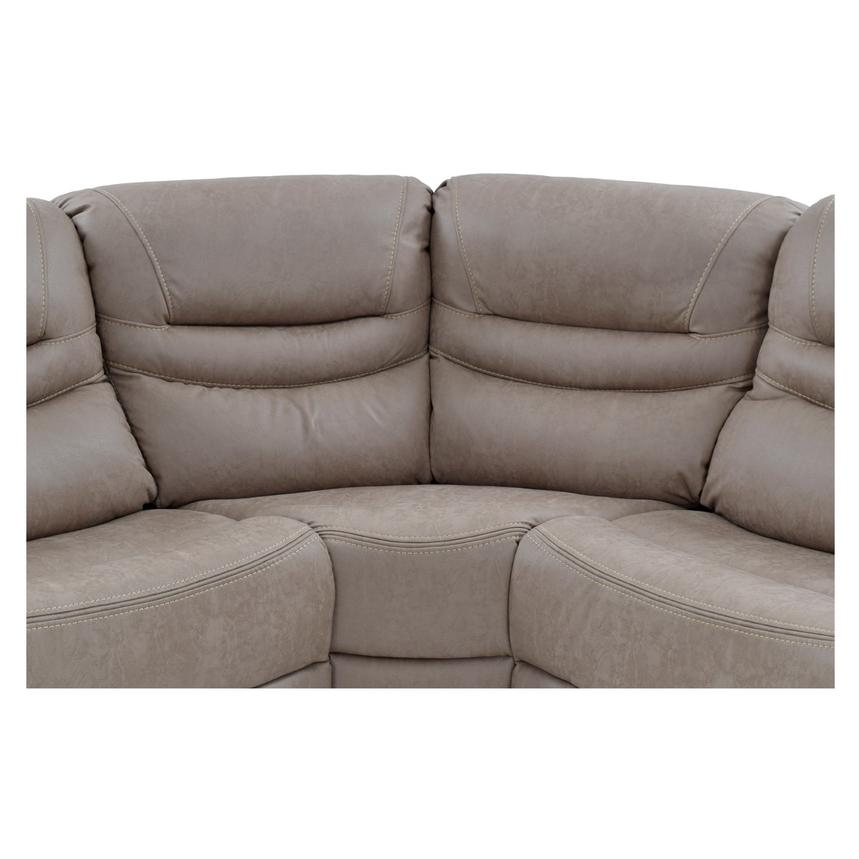 Dan Light Gray Power Motion Sofa w/Right & Left Recliners  alternate image, 5 of 9 images.