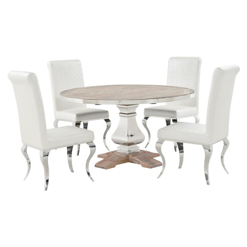 Wilma/Lizbon 5-Piece Formal Dining Set  main image, 1 of 9 images.