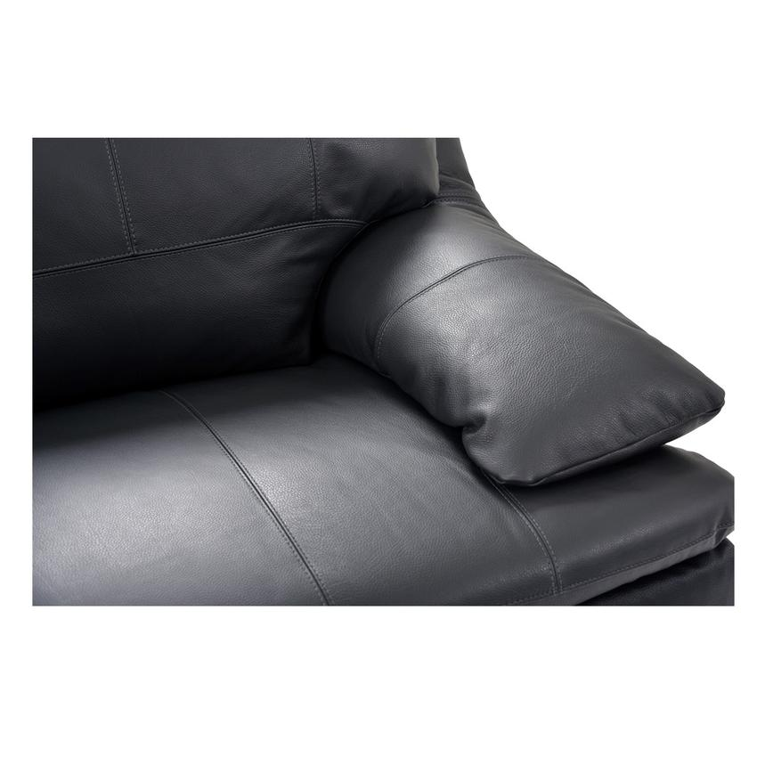 Rio Dark Gray Leather Sofa w/Left Chaise  alternate image, 5 of 7 images.