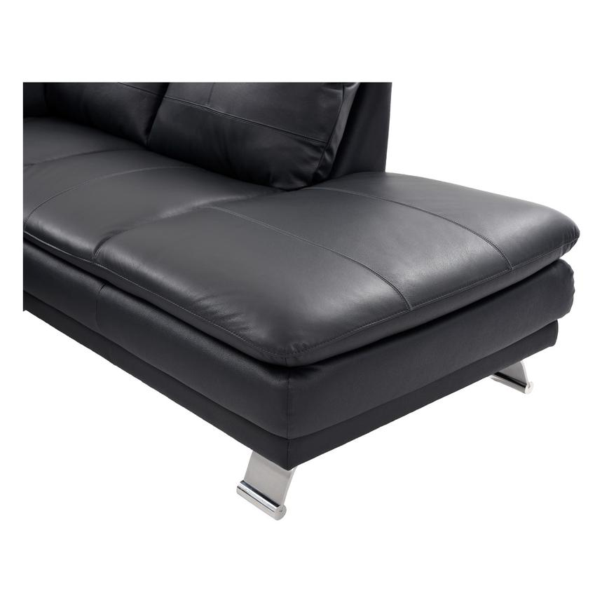Rio Dark Gray Leather Sofa w/Right Chaise  alternate image, 6 of 7 images.