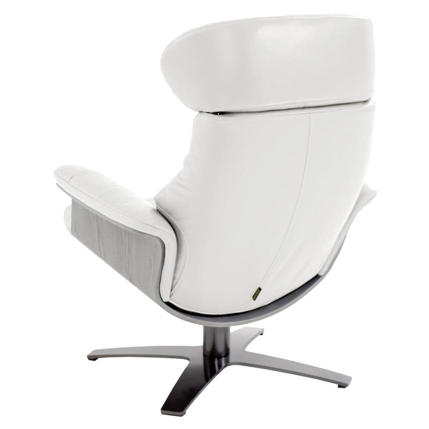 Enzo Pure White Leather Swivel Chair  alternate image, 6 of 12 images.