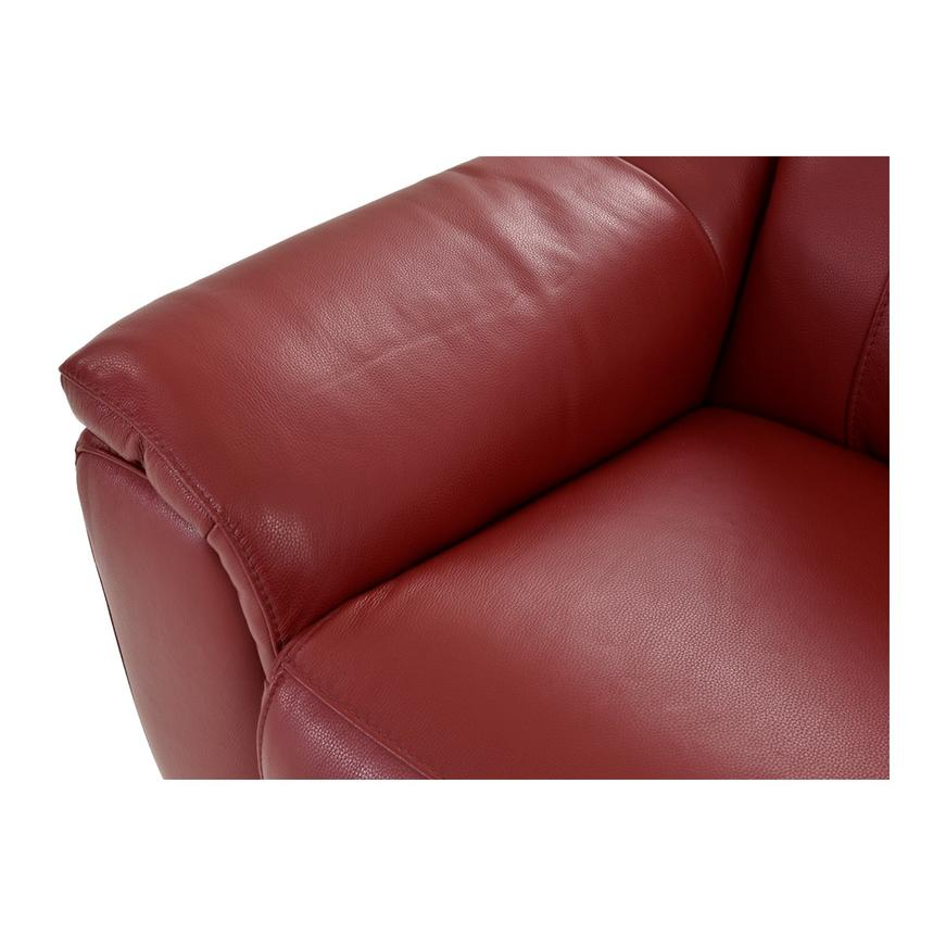 Davis Red Power Motion Leather Sofa w/Right & Left Recliners  alternate image, 6 of 11 images.