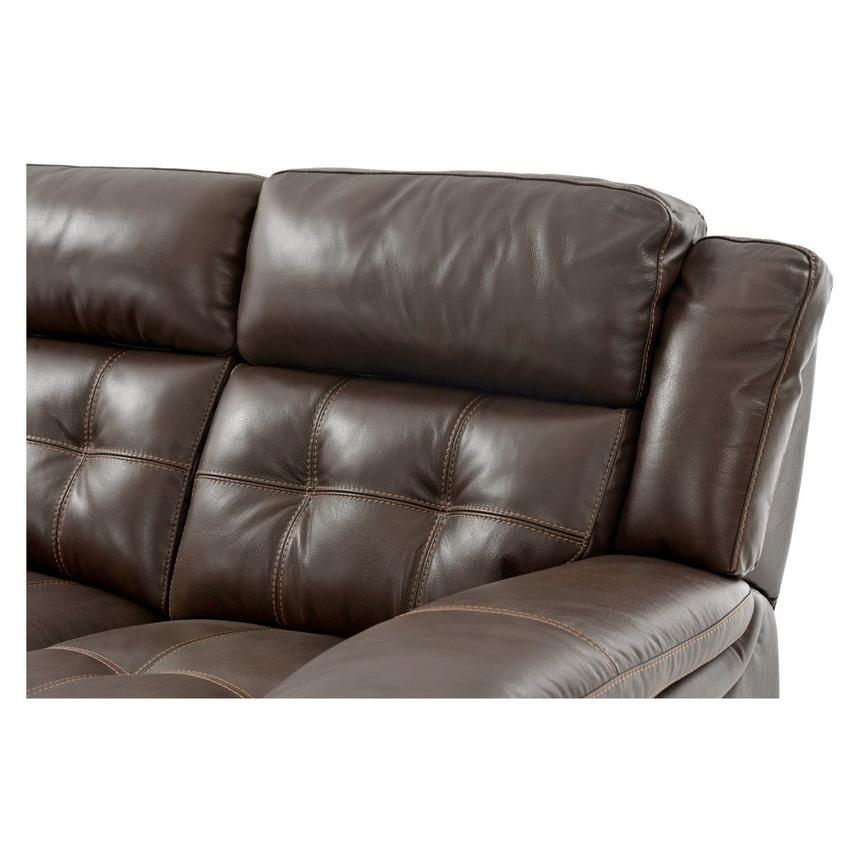 Stallion Brown Power Motion Leather Loveseat  alternate image, 5 of 8 images.